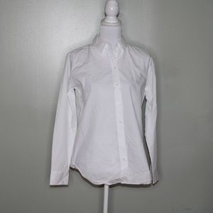 everlane women white cotton shirt SZ 4